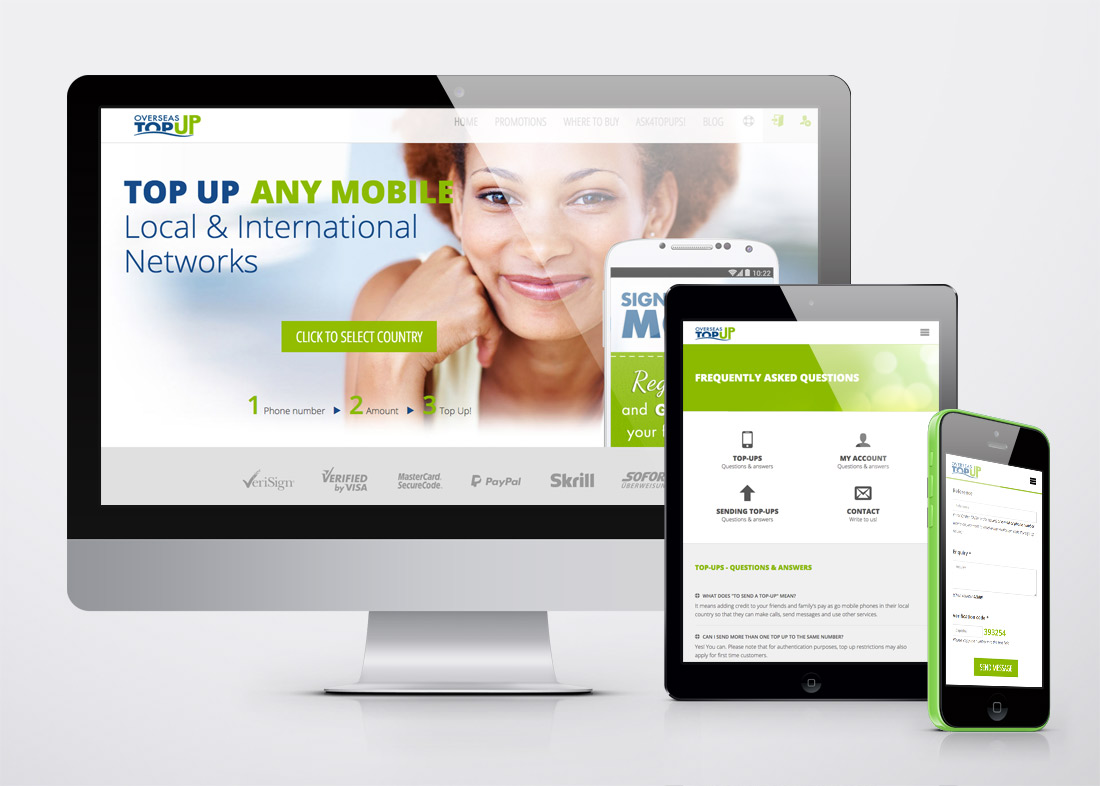 Overseas TopUp responsive website
