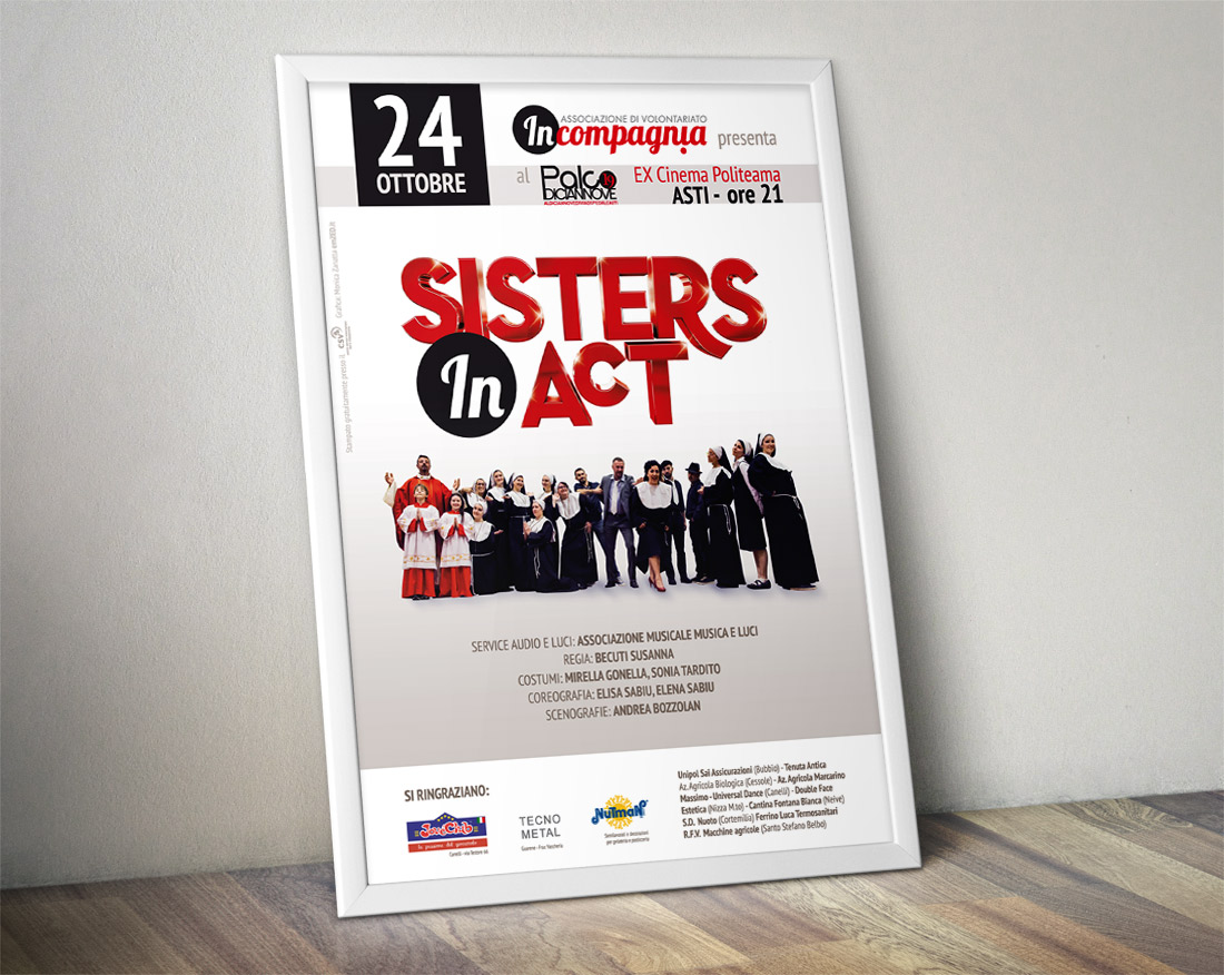 Sisters in Act social event poster