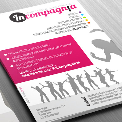 In Compagnia <br> logo and leaflet