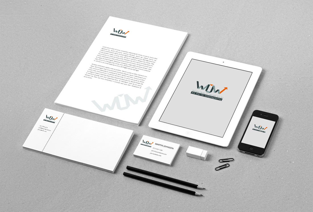 WOW logo design